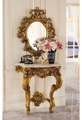 Toscano Design Madame Console Table and Mirror Set Design
