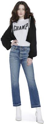 Alice + Olivia Ao X Zoe Buckman Barron Crop Zip Up Hoodie