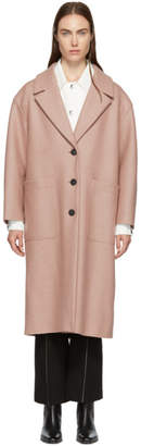 Harris Wharf London Pink Pressed Wool Oversized Coat