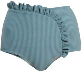 MADE BY DAWN Arc ruffle-trimmed bikini briefs