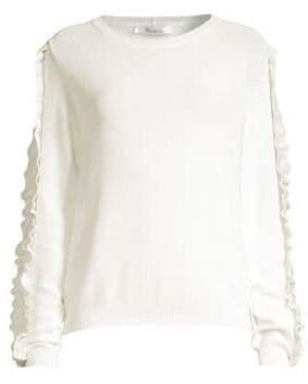 Max Mara Globale Ruffle-Trim Sweater