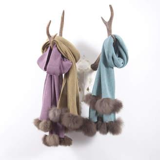 Holmes Samantha Alpaca Fur Pom Pom Scarf