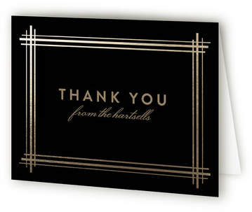 Grand Affair Foil-Pressed Thank You Cards