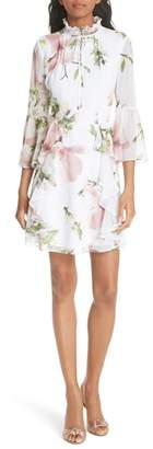 Ted Baker Harmony Bow Neck Ruffled Dress