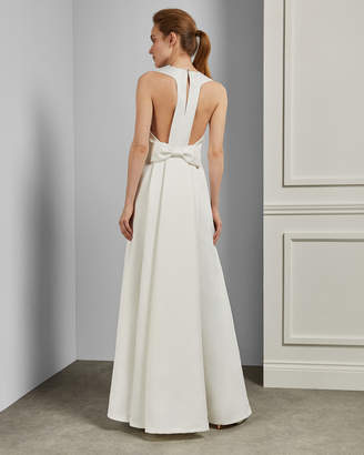 Ted Baker ESCHEN Open back bow maxi dress