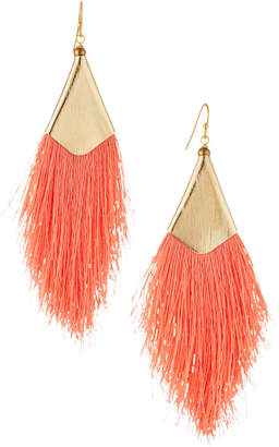 Nakamol Fringe Drop Earrings, Peach