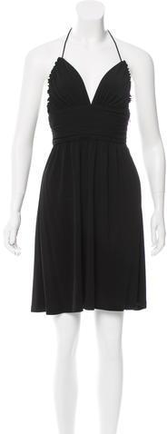 CelineCéline Ruched Halter Dress