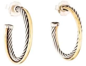David Yurman Crossover Medium Hoop Earrings