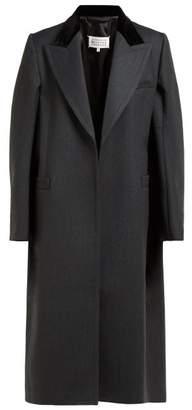 Maison Margiela Cape Style Wool Coat - Womens - Grey