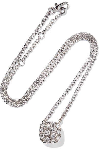 Pomellato Nudo Solitaire 18-karat White And Rose Gold Diamond Necklace