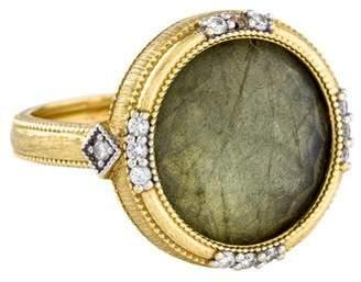 Jude Frances 18K Diamond & Labradorite Doublet Lisse Ring