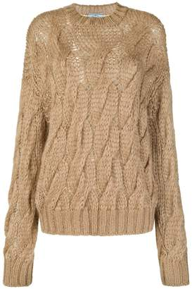 Prada cable open knit jumper
