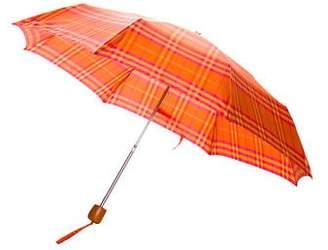 Burberry Nylon Check Umbrella w/ Tags