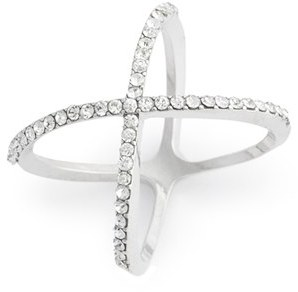 Junior Women's Bp. Rhinestone Crossover Ring $12 thestylecure.com