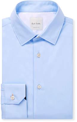 Paul Smith Light-Blue Cotton-Poplin Shirt - Men - Blue