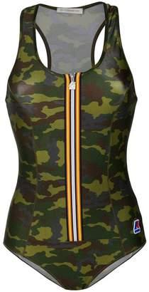 Faith Connexion camouflage zip swimsuit