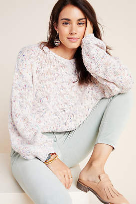 Cupcakes And Cashmere Speckled Boat Neck Pullover