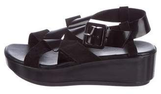 Robert Clergerie Leather Crossover Sandals