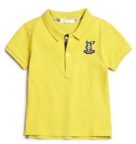 Burberry Toddler Boy's Pique Polo Shirt $60 thestylecure.com