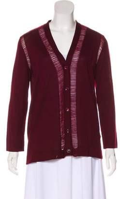 Maison Margiela Wool Fringe-Trimmed Cardigan