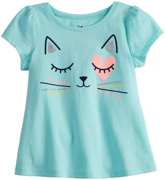 Baby Girl Jumping Beans Graphic Swing Top