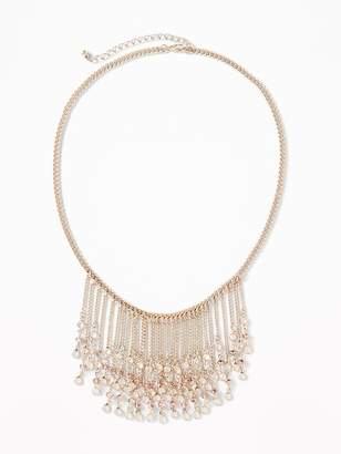 Old Navy Crystal Statement Bib Necklace for Women