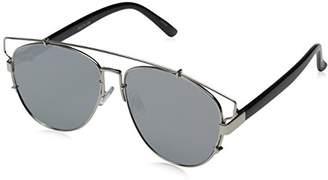 Zerouv Technologic Full Metal Crossbar Flash Mirror Flat Lens Aviator Sunglasses