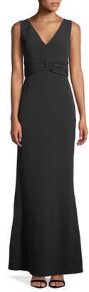 Karl Lagerfeld Paris Sleeveless V-Neck Gown