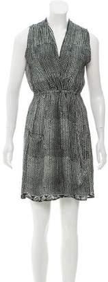Natalie Martin Silk Wrap Mini Dress