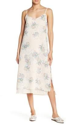 ENGLISH FACTORY Paisley Printed Slip Dress