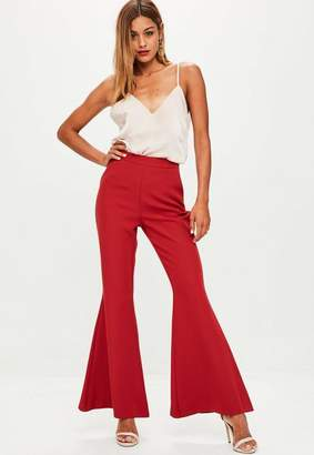 Missguided Woven Kick Fla Trousers