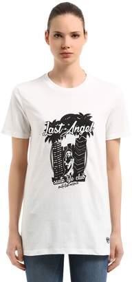 Chiara Ferragni Last Angel Print Cotton Jersey T-Shirt