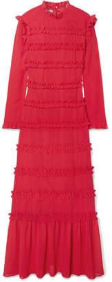 REJINA PYO - Hadley Ruffled Chiffon Maxi Dress - Red