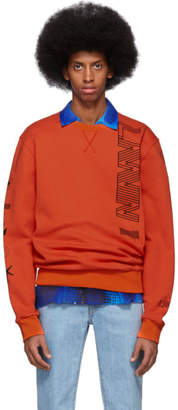 Lanvin Orange Logo Sweatshirt