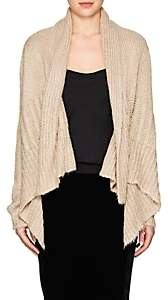 Rick Owens Women's Silk Crop Waterfall Cardigan - Natural