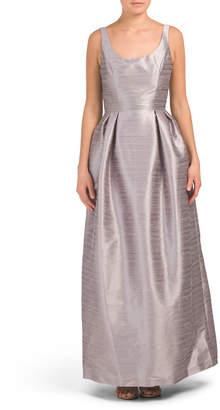 Scoop Neck Long Gown