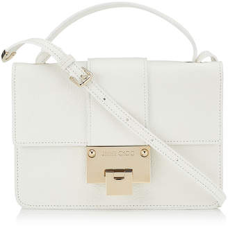 Jimmy Choo REBEL White Grainy Calf Leather Cross Body Bag