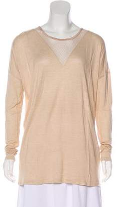 Hotel Particulier Mesh-Accented Long Sleeve Top w/ Tags