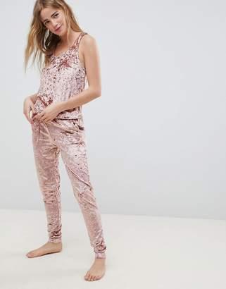 Chelsea Peers NYC pink velvet onesie