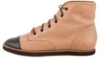 Loeffler Randall Lace-Up Cap-Toe Boots