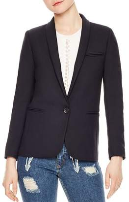 Sandro Triomphe Single-Button Blazer