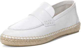 Vince Daria Leather Flat Espadrille Loafer
