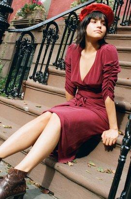 Lily Ashwell Poppy Dress - Berry Silk