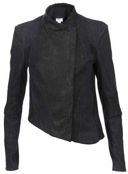 HELMUT LANG - Leather combo jacket