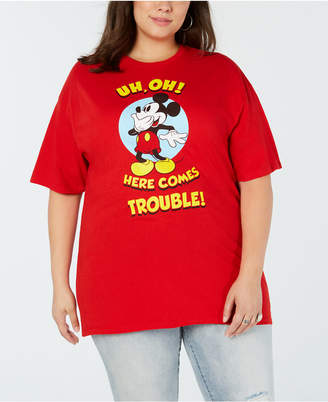 Mighty Fine Plus Size Cotton Mickey Mouse T-Shirt