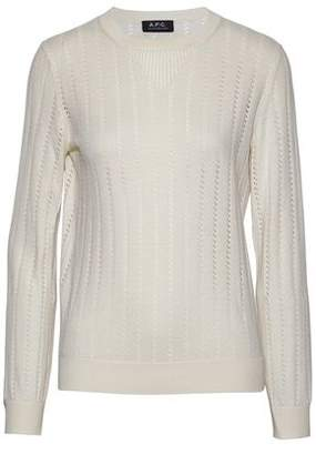 A.P.C. Pointelle-Knit Cotton Silk And Cashmere-Blend Sweater