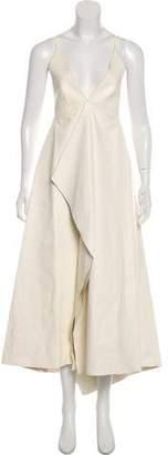 Valentino Leather Sleeveless Maxi Dress
