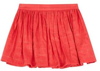 Bonton Sale - Mignonne Lurex Checked Skirt