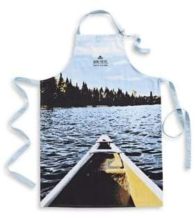Grand Portage Canoe Printed Cotton Apron