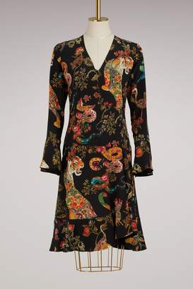 Etro Long-Sleeved Short Dress